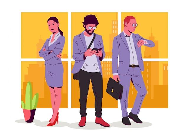 Illustrazione di uomo e donna d'affari