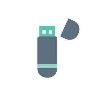 Illustrazione di usb isolato