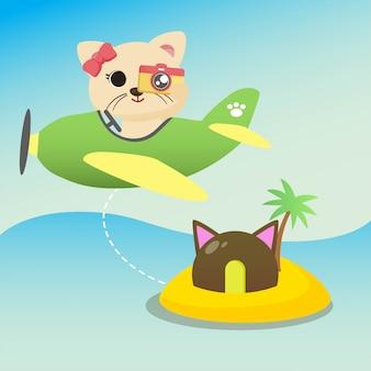 Illustrazione di vacanza del gatto