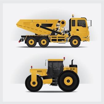 Illustrazione di veicoli di costruzione