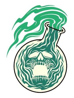 Illustrazione di veleno horror
