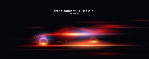 Illustrazione di velocità, sfondo veloce