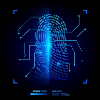 Illustrazione di verifica dell'impronta digitale