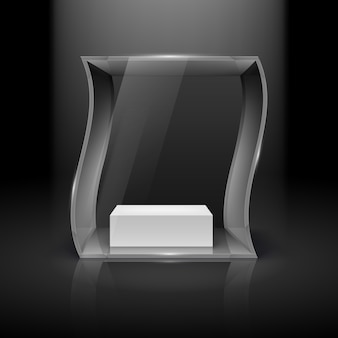 Illustrazione di vetrina di vetro