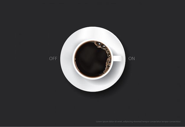 Illustrazione di vettore dei flayers della pubblicità del manifesto del caffè