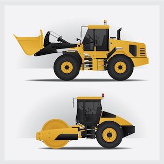 Illustrazione di vettore dei veicoli della costruzione