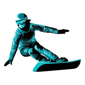 Illustrazione di vettore del bordo sci