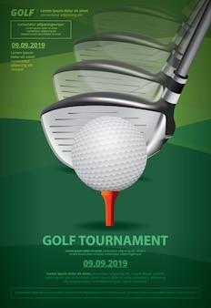 Illustrazione di vettore del campionato di golf del manifesto
