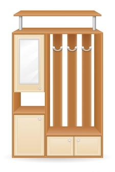 Illustrazione di vettore del corridoio della mobilia