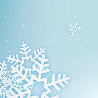 Illustrazione di vettore del fondo dell'estratto di arte della carta dei fiocchi della neve