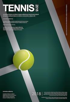 Illustrazione di vettore del manifesto di campionato di tennis