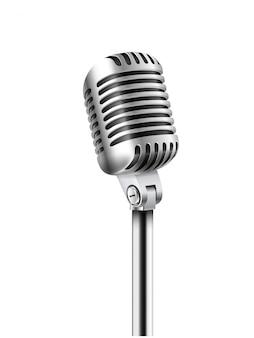 Illustrazione di vettore del microfono di concerto isolata su bianco
