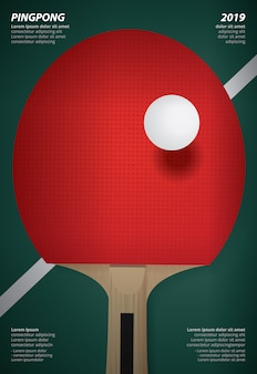 Illustrazione di vettore del modello del manifesto di pingpong
