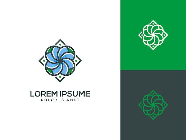 Illustrazione di vettore del modello di logo del fiore di bellezza