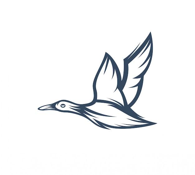 Illustrazione di vettore del modello di logo dell'oca