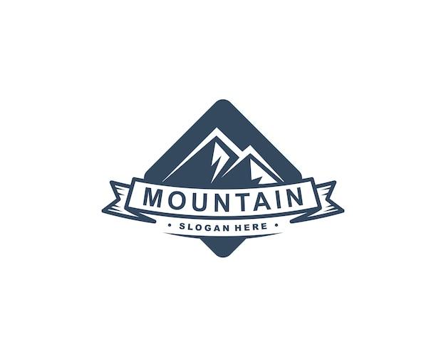 Illustrazione di vettore del modello logo montagna
