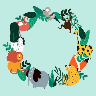 Illustrazione di vettore del modello tema animali
