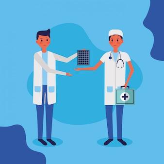 Illustrazione di vettore del personale medico