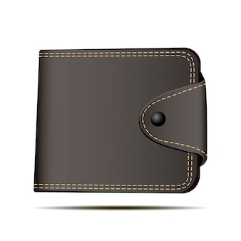 Illustrazione di vettore del portafoglio marrone. simbolo di deposito.