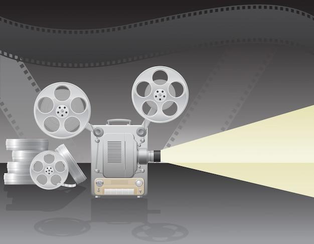 Illustrazione di vettore del proiettore cinematografico