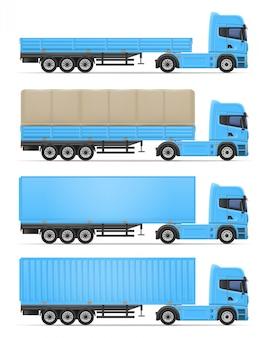 Illustrazione di vettore del rimorchio dei semi del camion