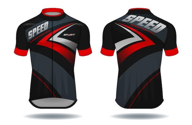 Illustrazione di vettore dell'attrezzatura di protezione di usura di jersey.sport del ciclo.