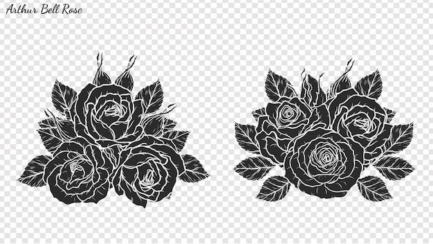 Illustrazione di vettore dell'ornamento della rosa a mano.
