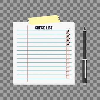 Illustrazione di vettore della carta dell'elenco di ordine del giorno.