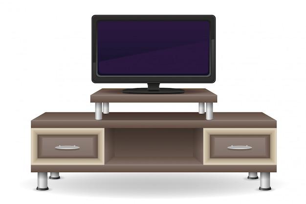 Illustrazione di vettore della mobilia della tavola della tv