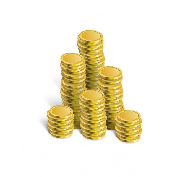 Illustrazione di vettore della pila di monete.