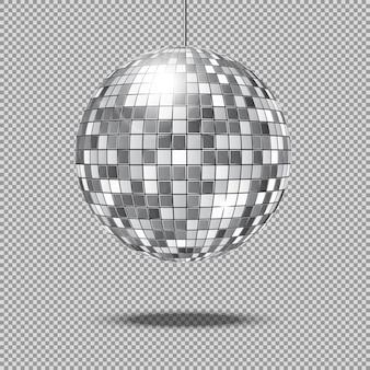 Illustrazione di vettore della sfera della discoteca di scintillio dello specchio