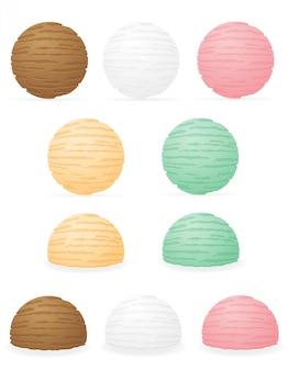 Illustrazione di vettore delle sfere del gelato