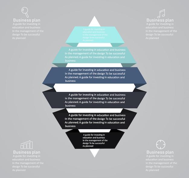 Illustrazione di vettore di affari e istruzione del diagramma.