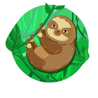 Illustrazione di vettore di bradipo animale