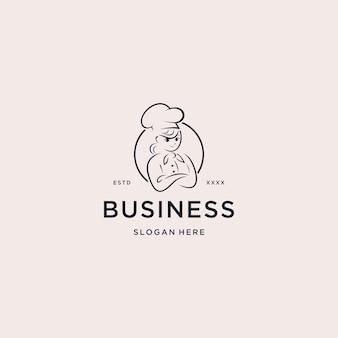 Illustrazione di vettore di chef cooking logo