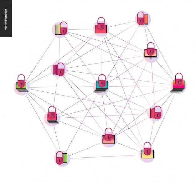 Illustrazione di vettore di concetto blockchain
