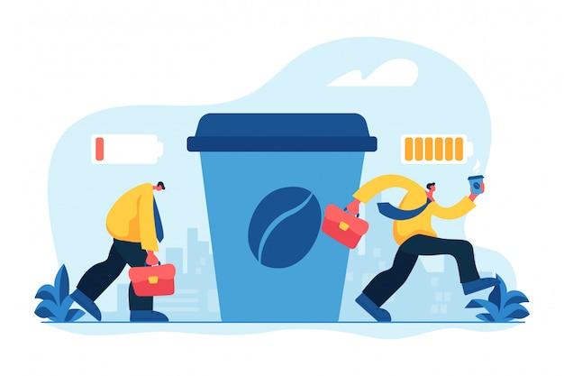 Illustrazione di vettore di concetto della pausa caffè