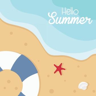 Illustrazione di vettore di concetto di vacanza estiva.
