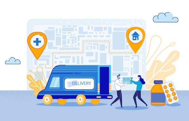 Illustrazione di vettore di consegna del farmaco.
