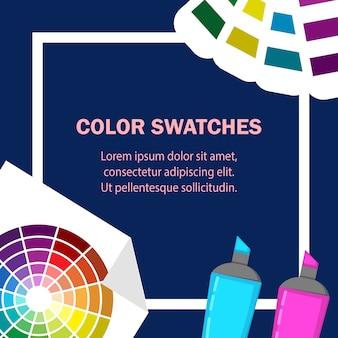 Illustrazione di vettore di design piatto campioni di colore.