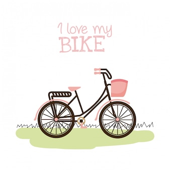 Illustrazione di vettore di disegno grafico della bicicletta