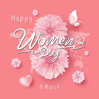 Illustrazione di vettore di giorno delle donne dell'8 marzo