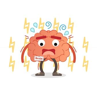 Illustrazione di vettore di impulso di carattere stress del cervello