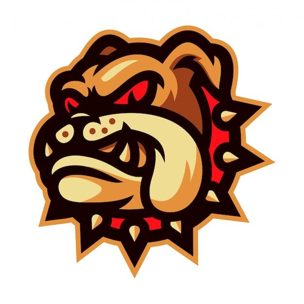 Illustrazione di vettore di logo della mascotte del bulldog