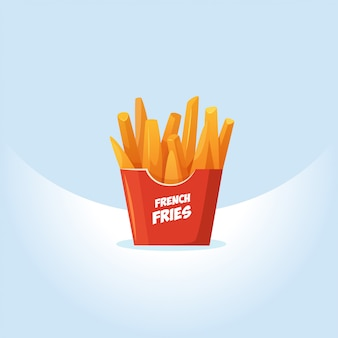 Illustrazione di vettore di patatine fritte