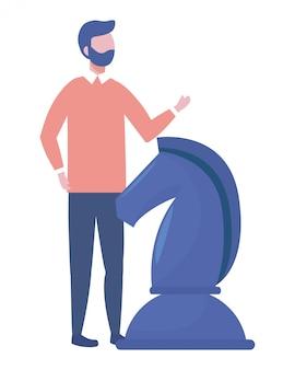 Illustrazione di vettore di progettazione del fumetto dell'avatar dell'uomo d'affari