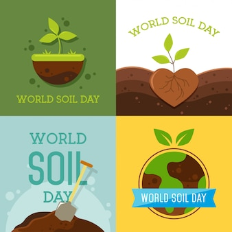 Illustrazione di vettore di progettazione del giorno del suolo del mondo