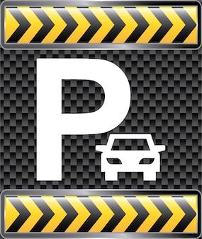 Illustrazione di vettore di progettazione grafica di parcheggio