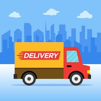 Illustrazione di vettore di servizio di consegna