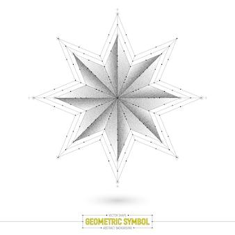 Illustrazione di vettore di simbolo stella geometrica